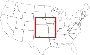 IPV6 image of 2^32 IP addresses per pixel shown to scale on the United States